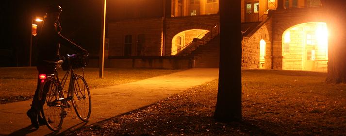 Ночь стимулируя на велосипеде