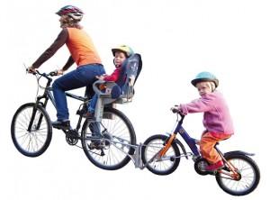 Мы поехали покататься на велосипеде вместе с родителями