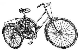 Объединенный трехколесный специальный велосипед V-925