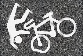 Падающие причины от велосипеда