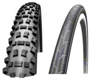 Смешанный выбор шин на велосипеде