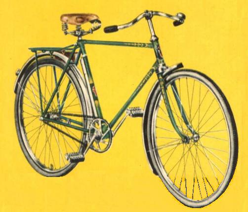 Велосипед человека Рига 16