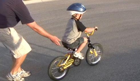Мы учимся поехать покататься на велосипеде