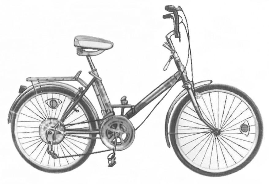Дорожный разборный велосипед Приветствие - 5 ? 113-911