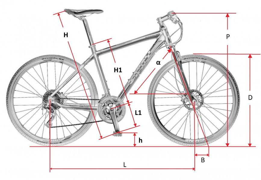Главные размеры велосипеда