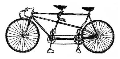 Это спортивно – велосипед следа В 94-ом Тандеме