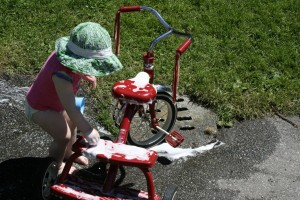 Слив велосипеда