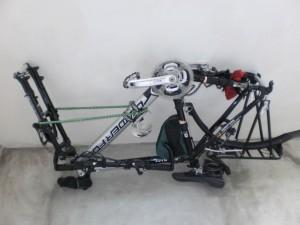 Велосипедная транспортировка в покрытии