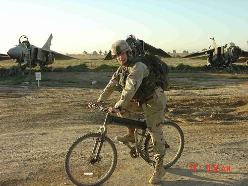Велосипед для парашютистов